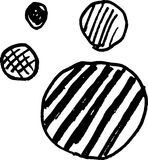 Drawing bubble chart. Vector file Drawing bubble chart Stock Images