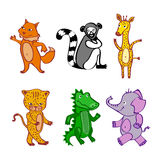 Vector File EPS10 Hand-drawn cartoon vector wild Royalty Free Stock Image