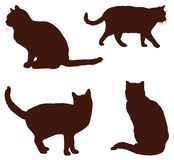 Farm animals - cats silhouette. Vector file of farm animals - set of domestic cats silhouette Royalty Free Stock Photography