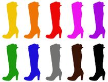 Fashion shoes - women boots silhouette. Vector file of fashion shoes - women boots silhouette royalty free illustration