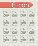 Vector File format icon set. On grey background Stock Photography