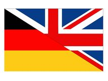 Great Britain and Germany flags vector illustration