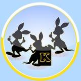 Vector file of kangaroo. Illustration of  file of kangaroo Stock Photography