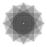 Vector file of star geometric shapes on white Royalty Free Stock Photos