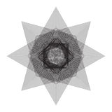 Vector file of star geometric shapes on white Royalty Free Stock Image