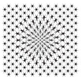 Vector file of star illusion shapes on white Royalty Free Stock Images