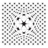 Vector file of star illusion shapes on white Royalty Free Stock Photos