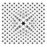 Vector file of star illusion shapes on white Stock Photos