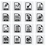 Vector File type icon set. On grey background Stock Photo