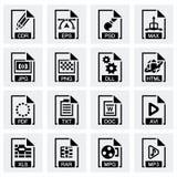 Vector File type icon set Stock Photo