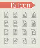 Vector File type icon set. On grey background Stock Images