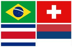 World countries flags stock photo