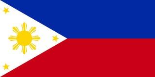 Vector filipino de la bandera Fotografía de archivo libre de regalías