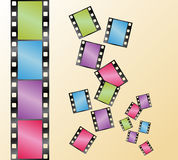 Vector of film Royalty Free Stock Photos
