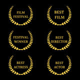 Vector Film Awards banners Stock Images
