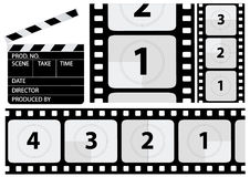 Vector Film Countdown. Vector illustration of a film countdown Royalty Free Stock Photography
