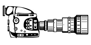 Vector film modern camera isolated on white Stock Photo