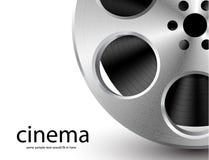 Vector film reel. Vector metal textured film reel Stock Image
