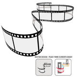 Vector film roll Royalty Free Stock Image