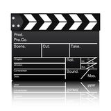 Vector of film slate. On  white background Stock Photos