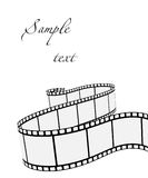 Vector film strip. In white Stock Images