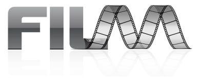 Vector film strip. On white Stock Image