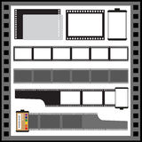 Vector film strip. Vector blank film strip illustration. Camera film roll Stock Photography