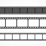 Vector film strip collection in different sizes. Vector Royalty Free Stock Photos