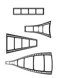 Vector film strip elements. Editable Royalty Free Stock Photo