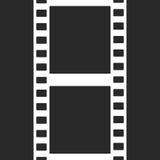 Vector Film Strip Illustration on Black Stock Images