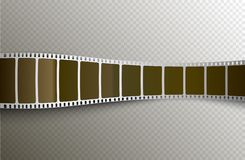 Vector film strip. Movie 3d filmstrip background. Film reel picture cinematography.  royalty free illustration