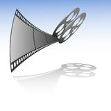 Vector film strip with reel Royalty Free Stock Photos