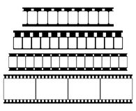 Vector Film Strip Set Illustration on White Royalty Free Stock Photo