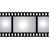 Vector film strip with space for your text or image. Seamless iluustration Royalty Free Stock Image