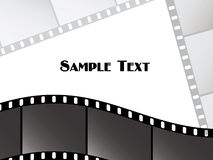 Vector film strips Royalty Free Stock Photos