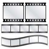 Vector film strips Stock Photos