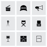 Vector Filming icon set Stock Photo