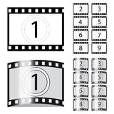 Vector Films. Set of inflected films - vector illustration Royalty Free Stock Photography
