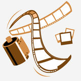 Vector filmstrip  (path*) Stock Image