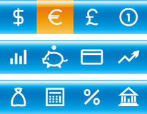 Vector Finance, Banking Icon Set. Original  icons for web, software etc. on white background Royalty Free Stock Image