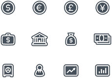 Vector Finance, Banking Icon Set. Original vector icons for web, software etc. on white background Stock Image