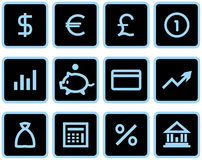 Vector Finance, Banking Icon Set. Original vector icons for web, software etc. on white background Royalty Free Stock Photo