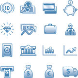 Vector Finance, Banking Icon Set Stock Image