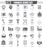 Vector Finance black icon set. Dark grey classic icon design for web. Stock Images