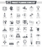 Vector finance business Project planning black icon set. Dark grey classic icon design for web Royalty Free Stock Images
