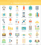Vector finance color flat icon set. Elegant style design. Vector finance color flat icon set. Elegant style design Royalty Free Stock Images