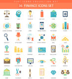 Vector Finance color flat icon set. Elegant style design. Stock Image