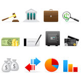 Vector finance icon set. On the white Stock Photos