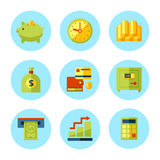 Vector finance and money icon set. Stock Photography