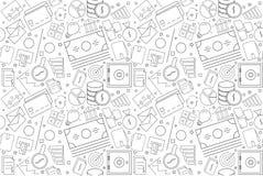 Vector finance pattern. FInance seamless background. Vector illustration Stock Image